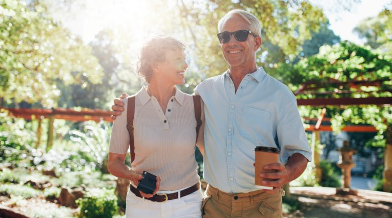 Senior couple on a vacation