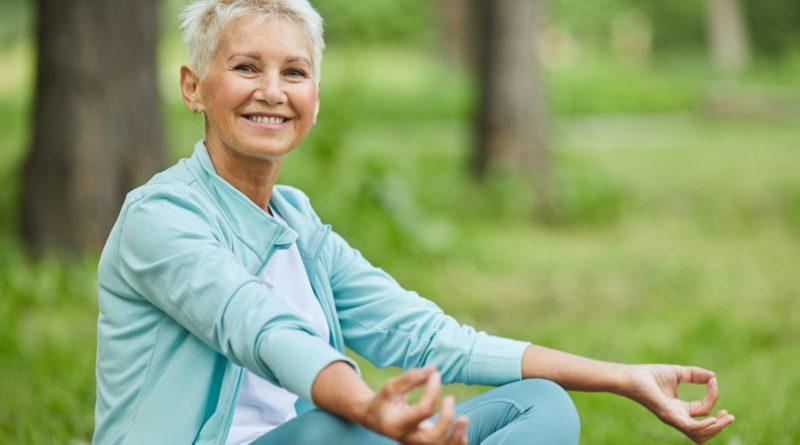 Cheerful Woman Starting Meditation