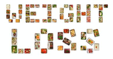 Weight loss written with foil boxes with fitness nutrition
