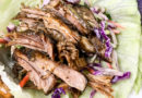 Ken's Slow Cooker Pulled Pork Lettuce Wraps