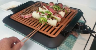 A smokeless stickless indoor grill is essential for condo living...