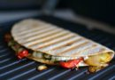 Grilled Veggie and Feta Panini - a vegetarian tortilla panini for lunch or a quick snack